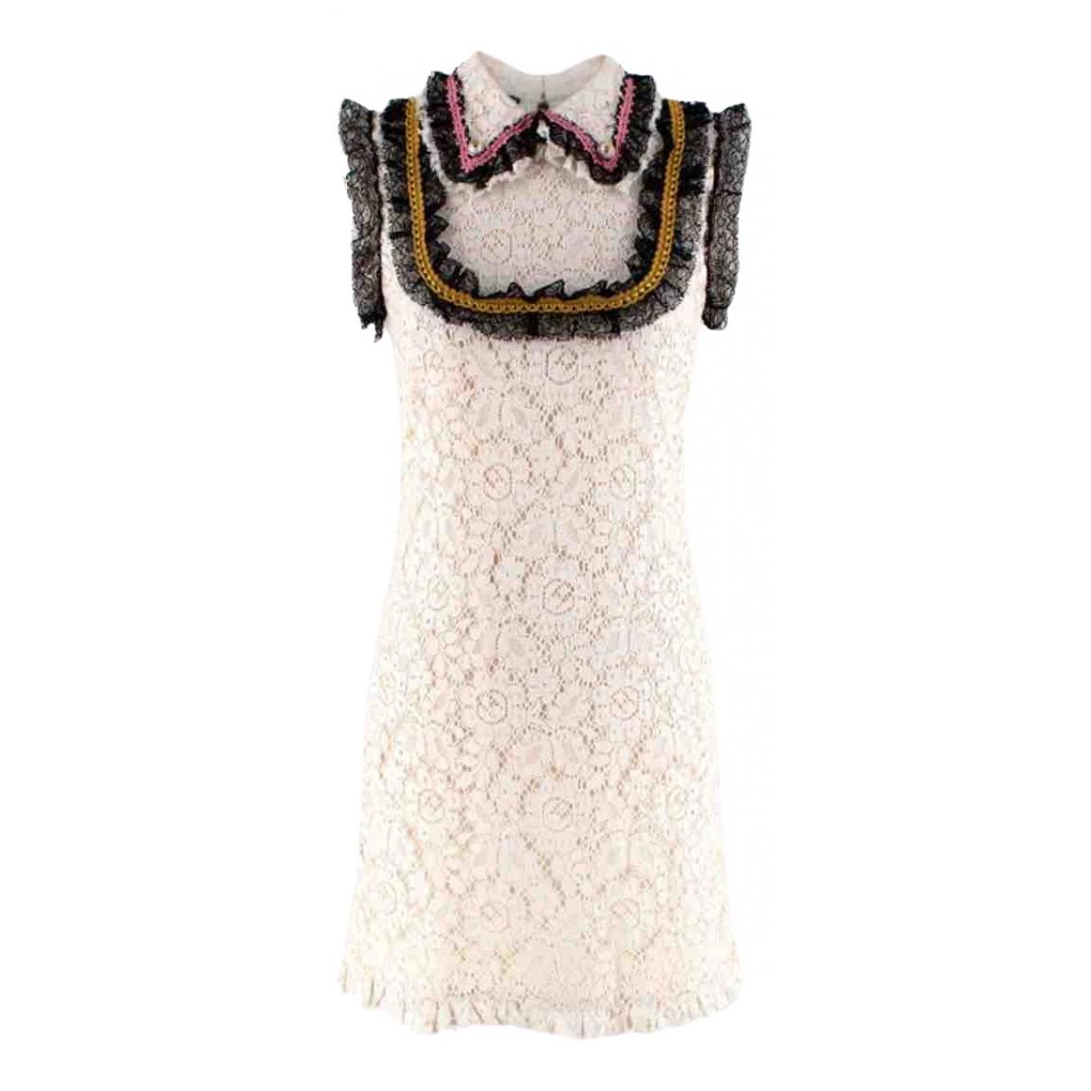 Gucci - Robe   pour femme en coton - ecru
