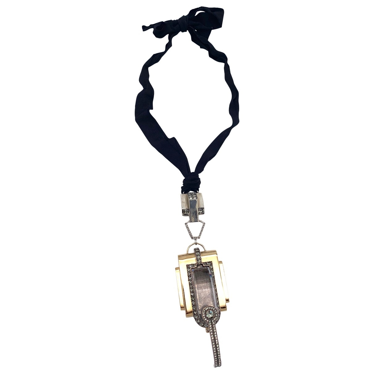 Lanvin \N Silver Crystal necklace for Women \N