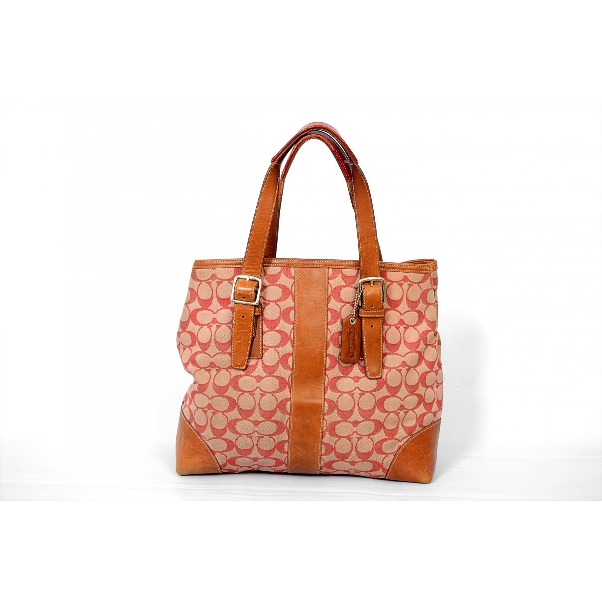 Coach \N Camel Cloth handbag for Women \N