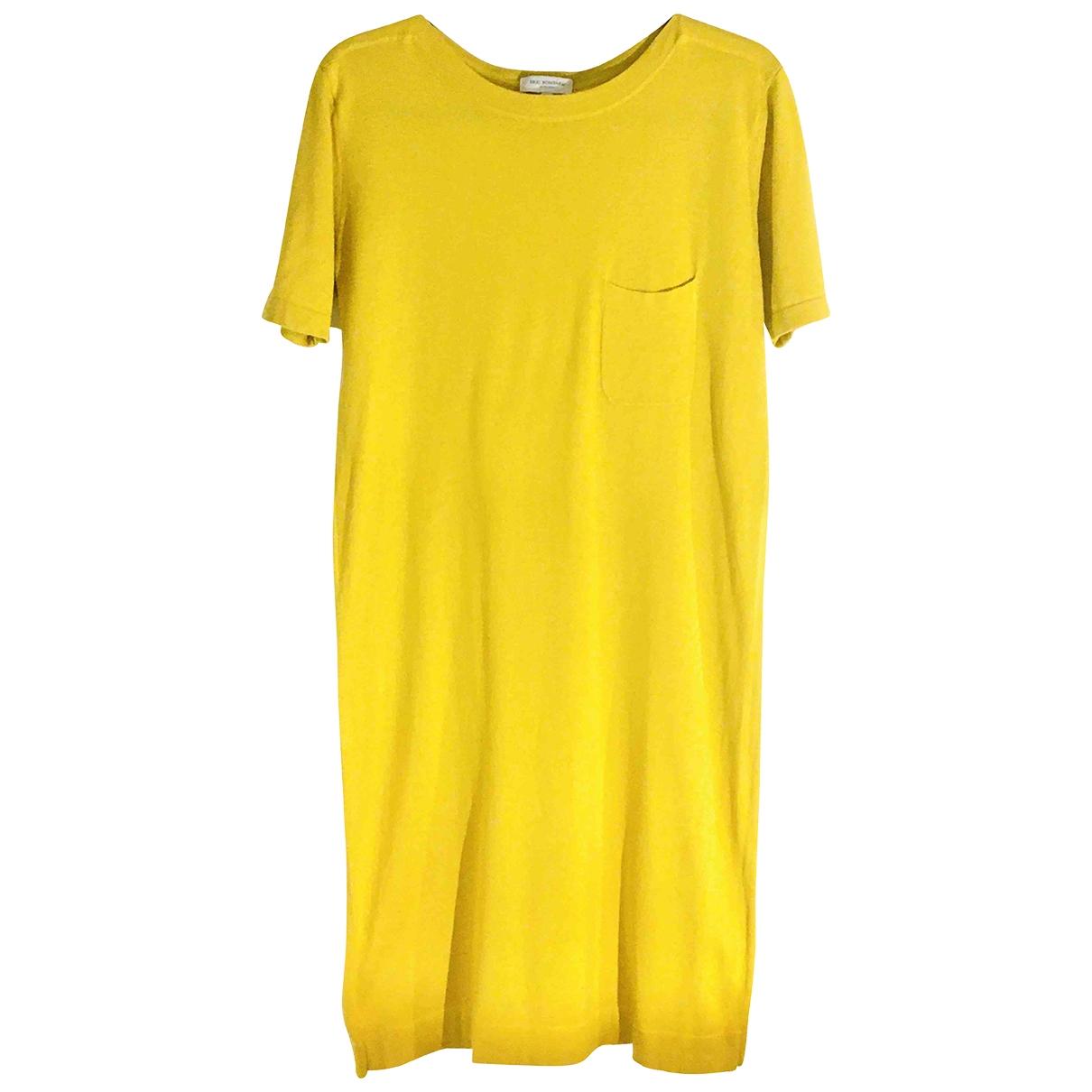 Eric Bompard \N Kleid in  Gelb Baumwolle