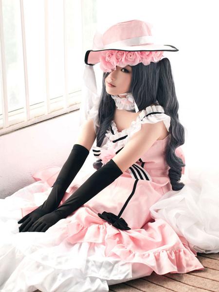 Milanoo Black Butler Kuroshitsuji Ciel Halloween Cosplay Costume Pink Lolita Dress Version Halloween