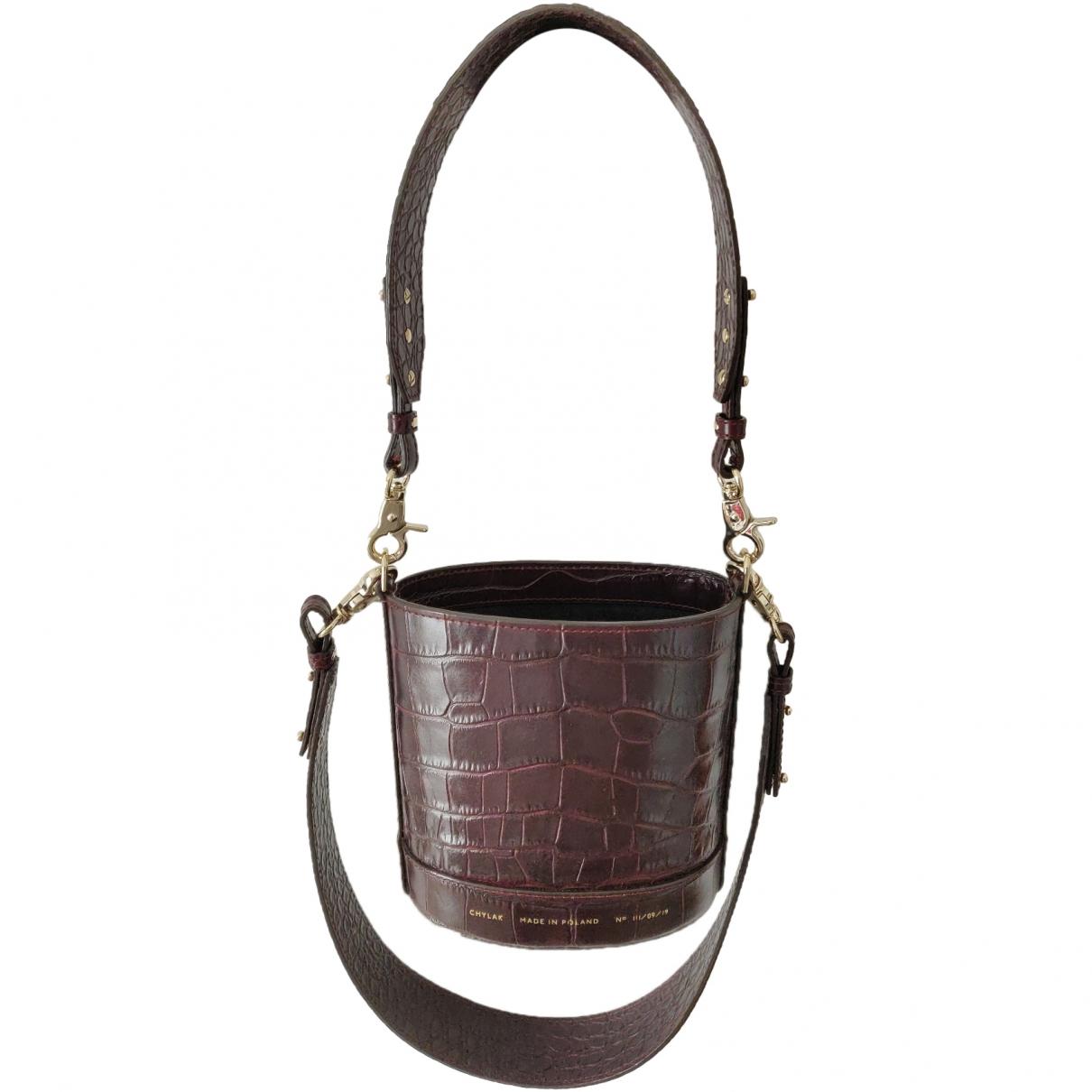 Chylak \N Burgundy Leather handbag for Women \N