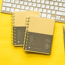 1pc Letter Graphic Spiral Notebook