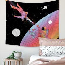 Tapisserie mit Astronaut Muster