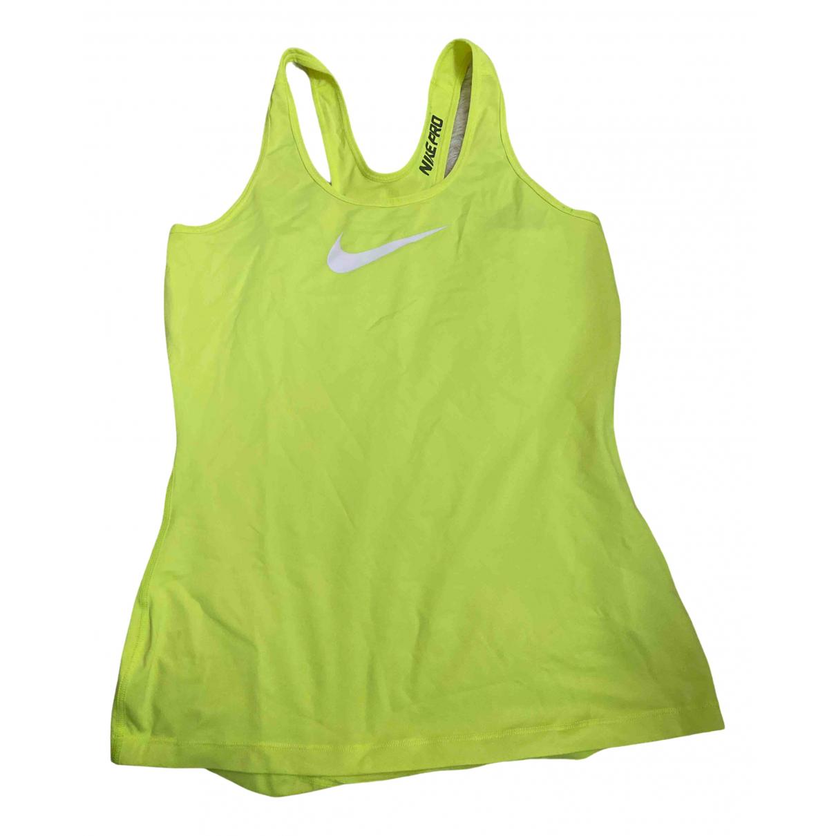 Nike - Top   pour femme - jaune