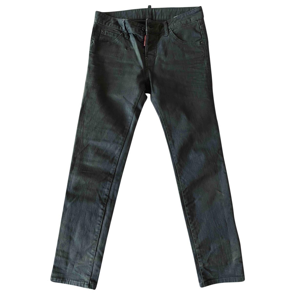 Dsquared2 \N Khaki Cotton Jeans for Women 38 FR