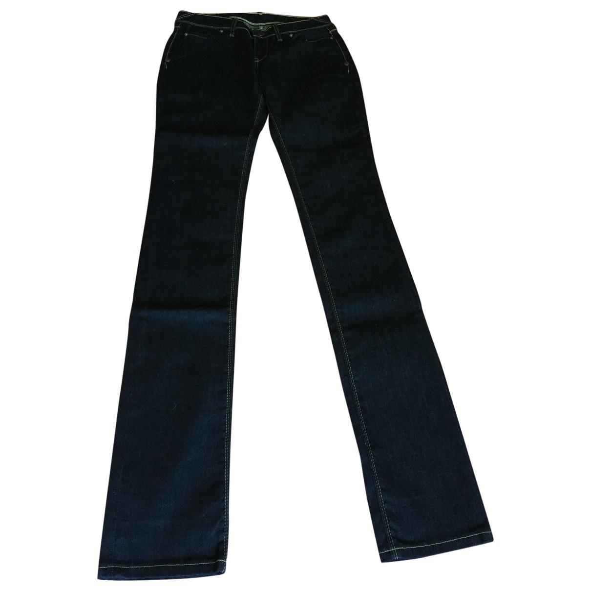 Levi's \N Blue Cotton Jeans for Women 29 US