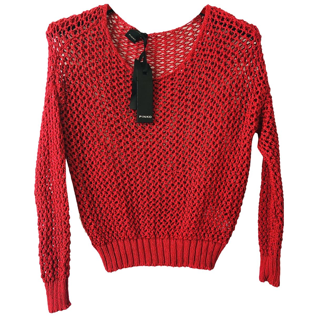 Pinko - Pull   pour femme en coton - rouge
