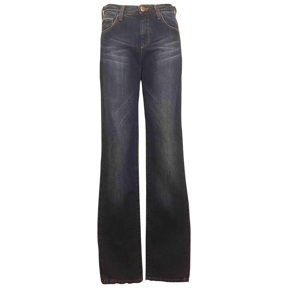 Ermanno Scervino \N Blue Cotton Jeans for Women 26 US