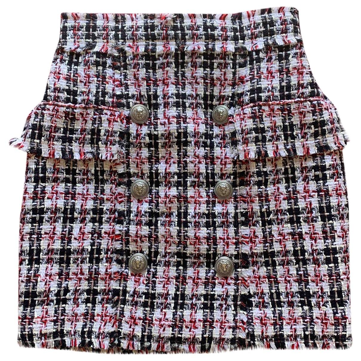 Balmain \N Multicolour skirt for Women 38 FR