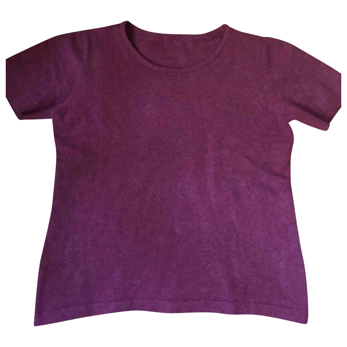 Non Signé / Unsigned \N Burgundy Wool  top for Women M International