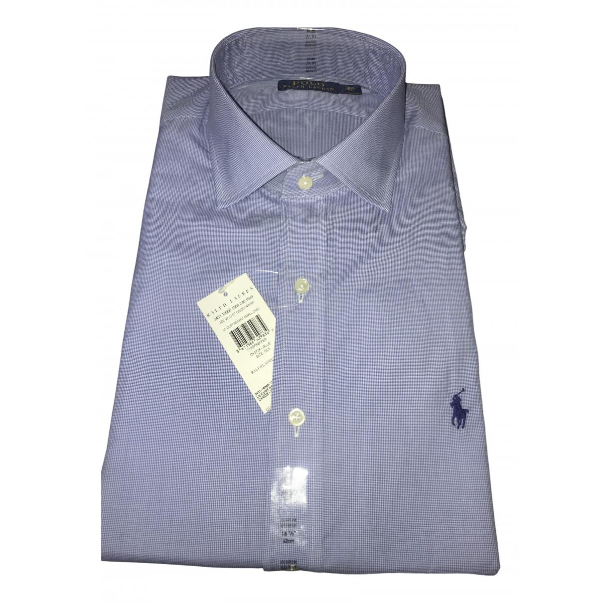 Polo Ralph Lauren \N Blue Cotton Shirts for Men 16.5 UK - US (tour de cou / collar)