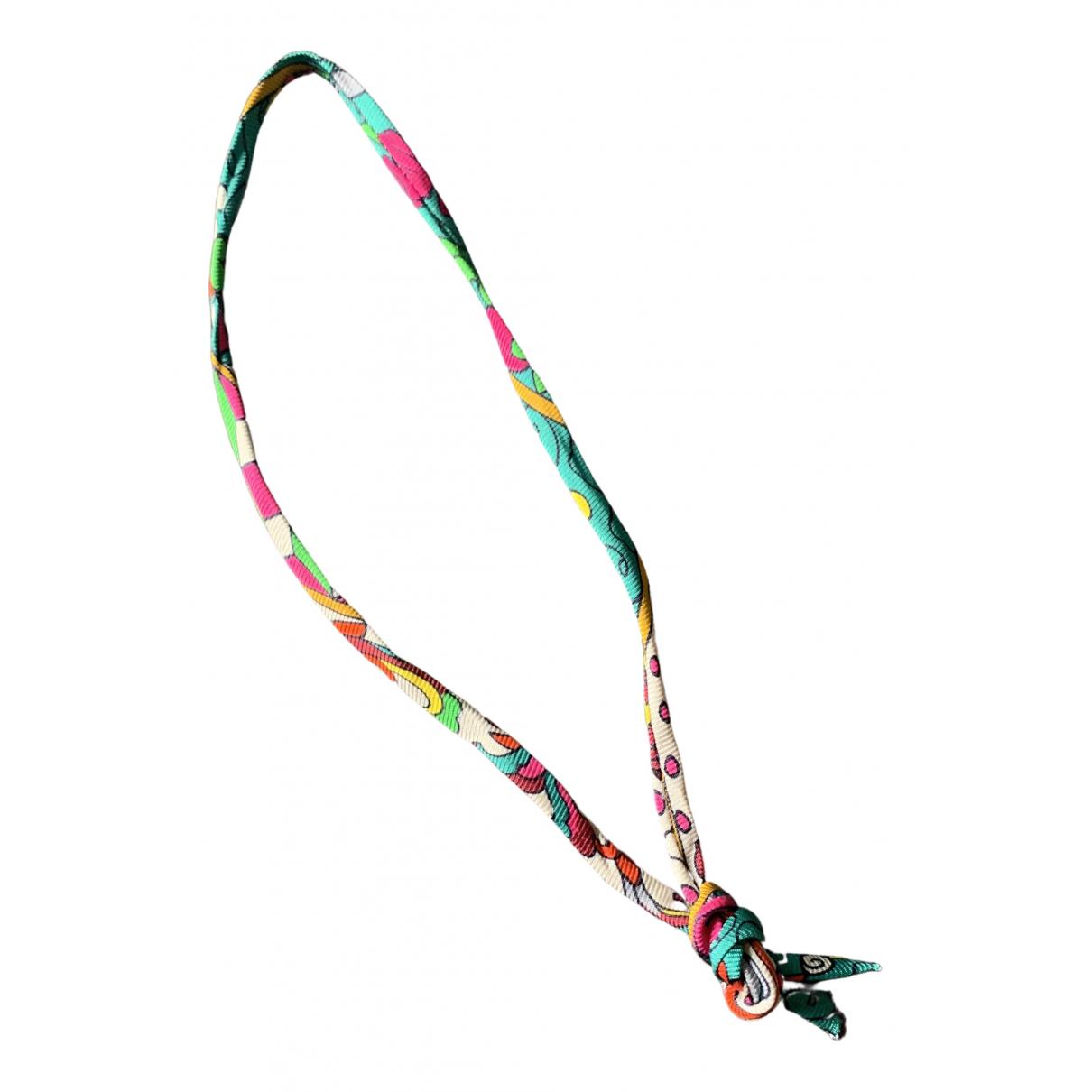 Hermes - Bracelet   pour femme en soie - multicolore