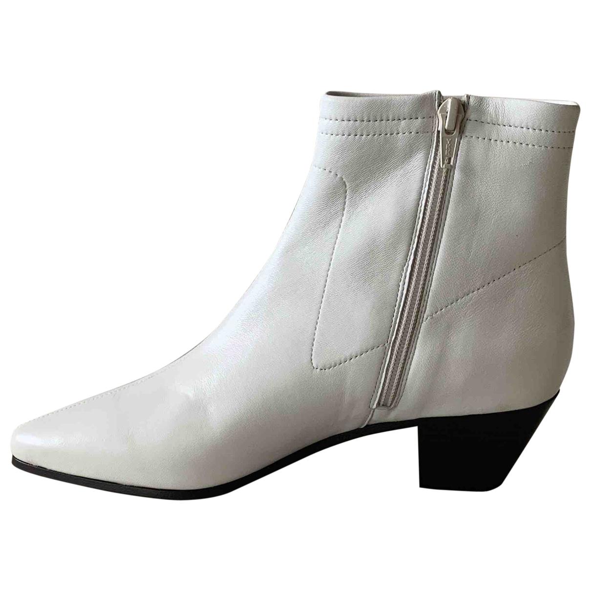 Maje - Boots Spring Summer 2020 pour femme en cuir - blanc