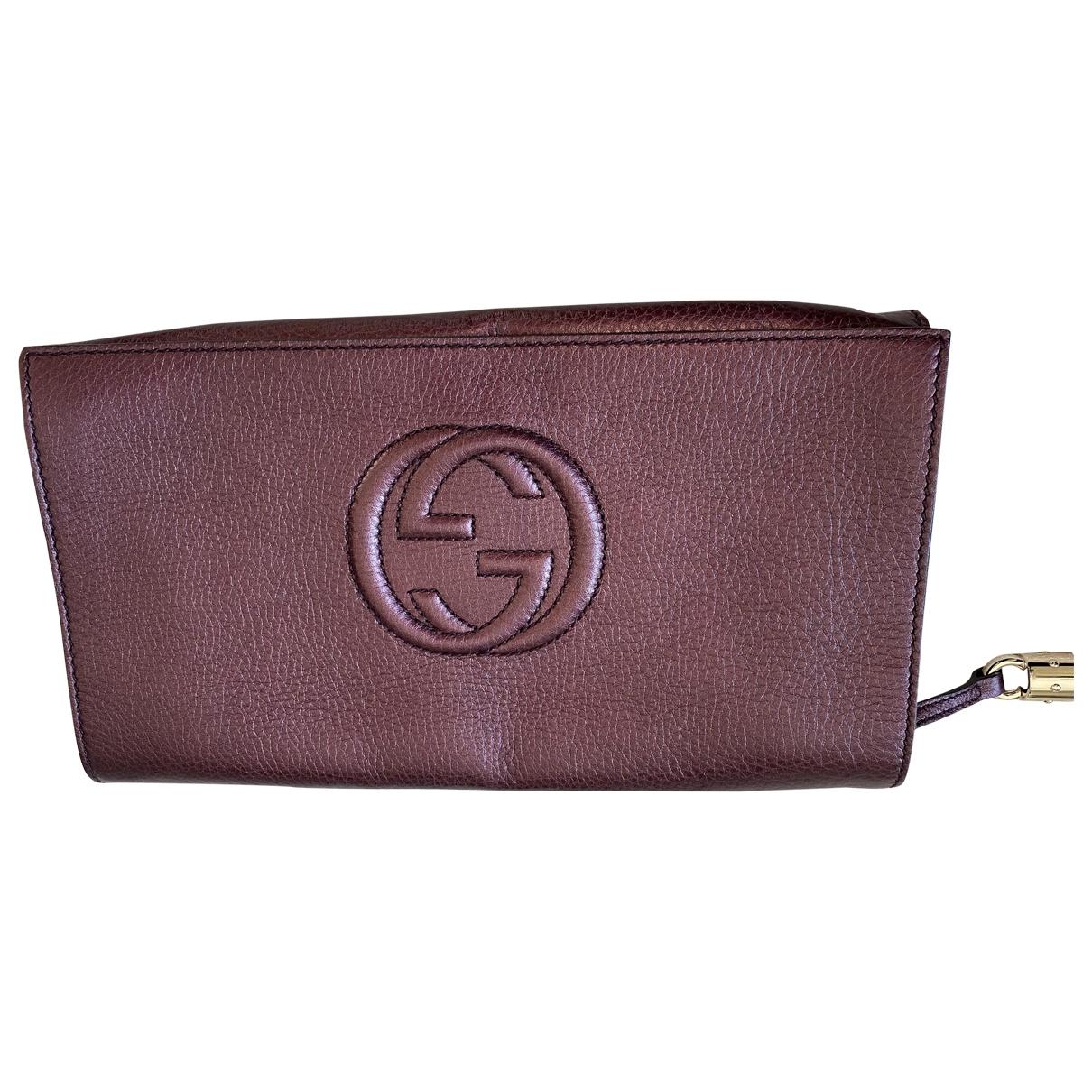 Gucci - Pochette Soho pour femme en cuir - violet