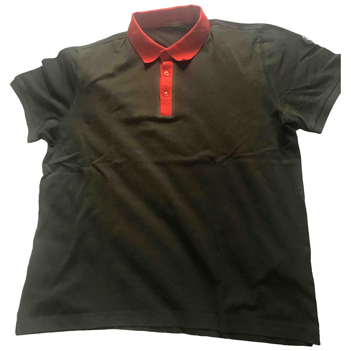 Moncler N Khaki Cotton Polo shirts for Men L International