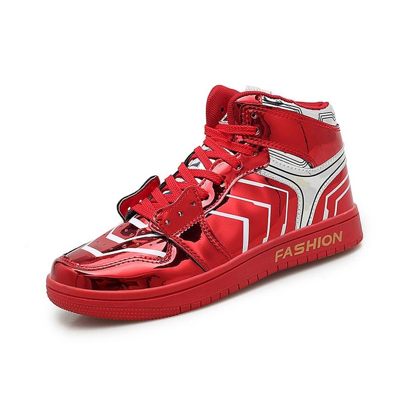 Ericdress High-Cut Upper Lace-Up Color Block Men's Skate Shoes