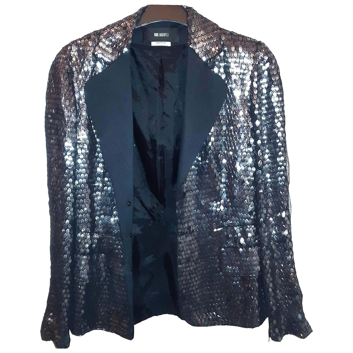 Karl Lagerfeld \N Metallic Silk jacket for Women 10 UK