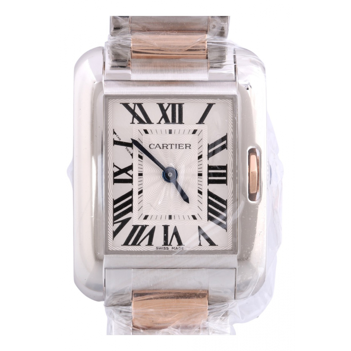 Cartier Tank Anglaise Uhr in  Gold Gold und Stahl