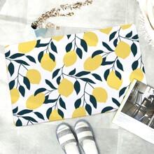 Lemon & Leaf Print Floor Mat