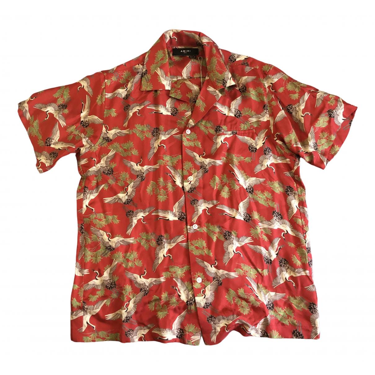 Amiri - Chemises   pour homme en soie - rouge