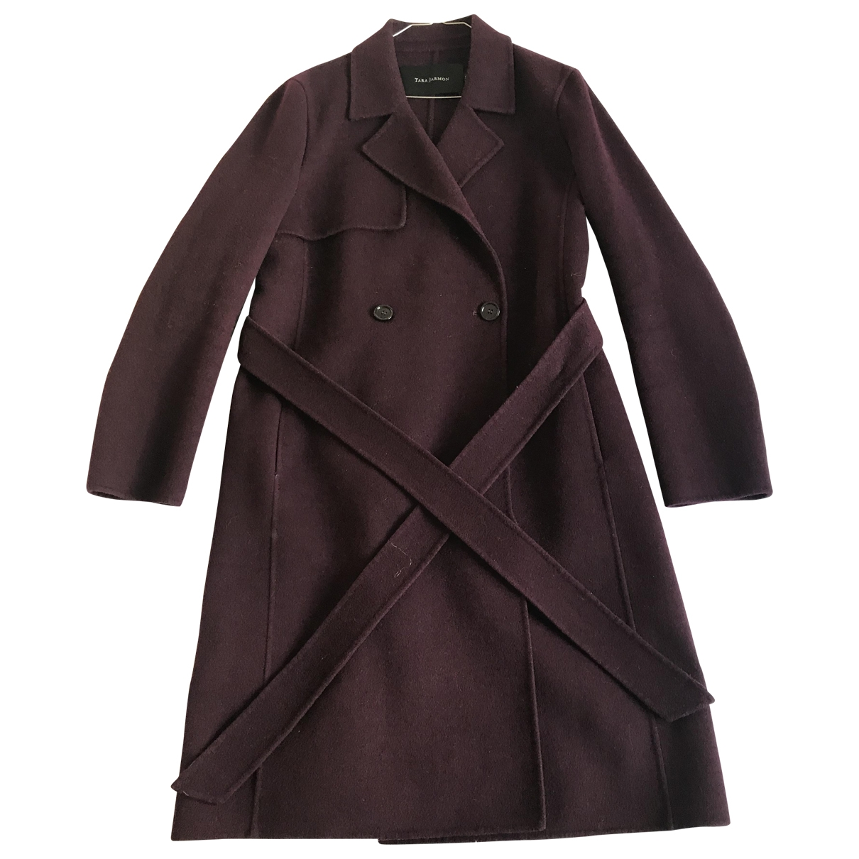 Tara Jarmon \N Purple Wool coat for Women 42 FR