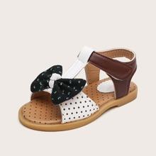 Toddler Girl Polka Dot Bow Decor Sandals