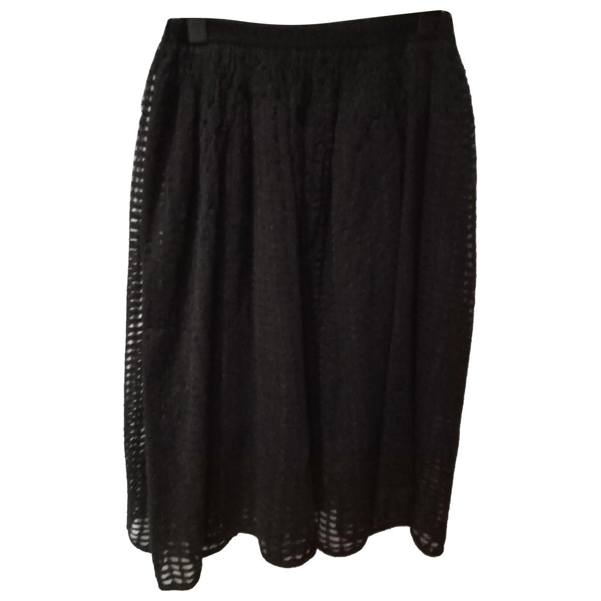 Stefanel - Jupe   pour femme en fourrure - noir