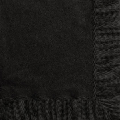 Party Luncheon Napkins Solid Color 33*33cm 13*13In 2-Ply Midnight Black 20Pcs