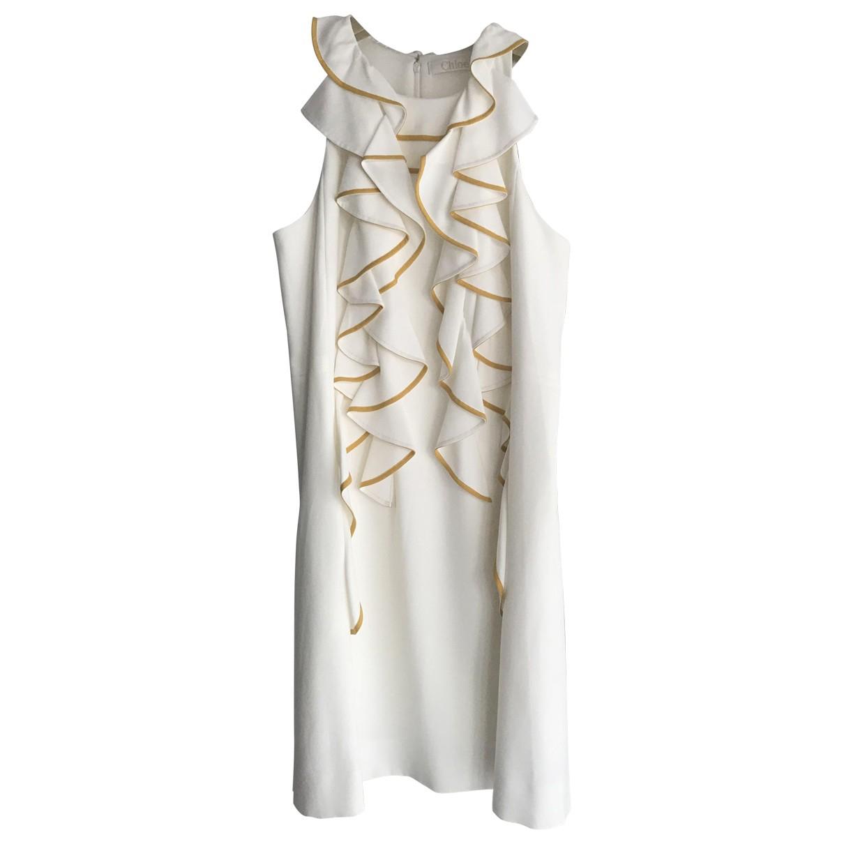 Chloe \N Kleid in  Weiss Polyester