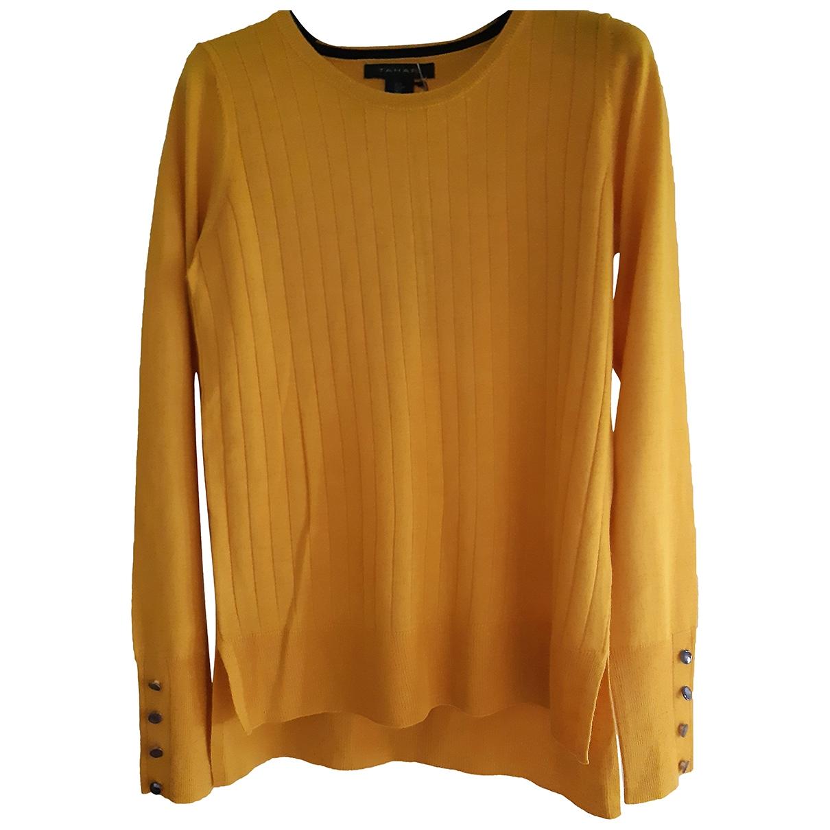 Elie Tahari - Pull   pour femme en laine - jaune