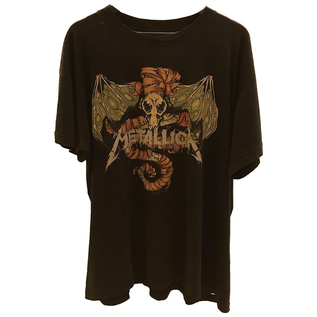 American Vintage - Tee shirts   pour homme en coton - noir