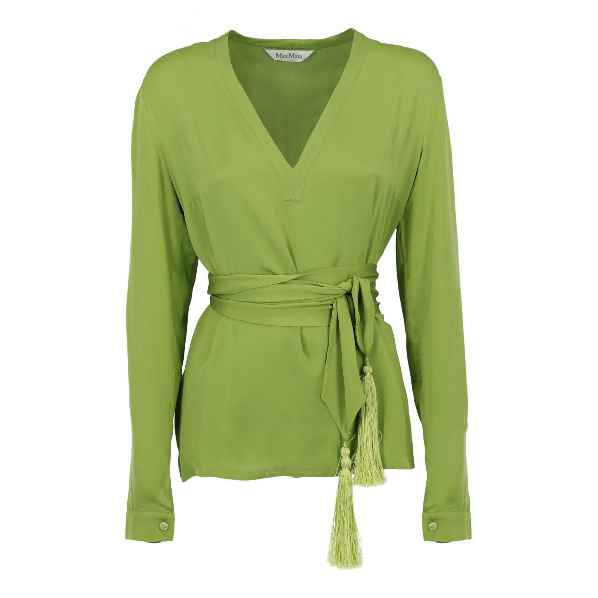 Max Mara \N Green Silk  top for Women One Size International