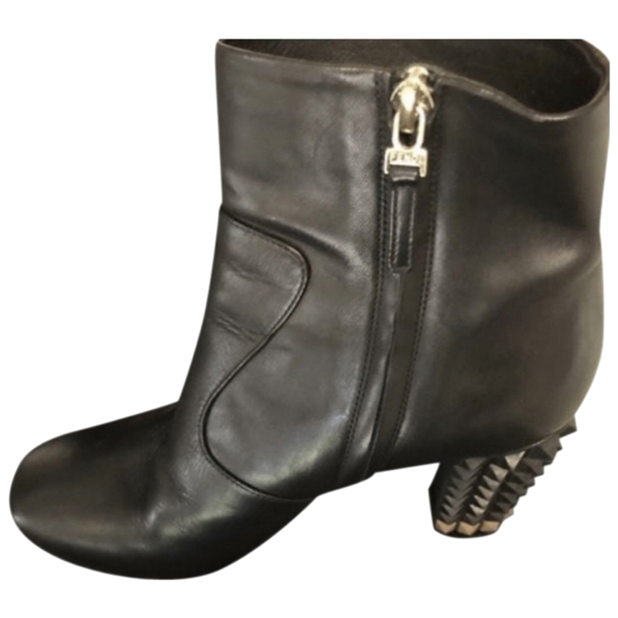 Fendi \N Black Leather Ankle boots for Women 36.5 EU