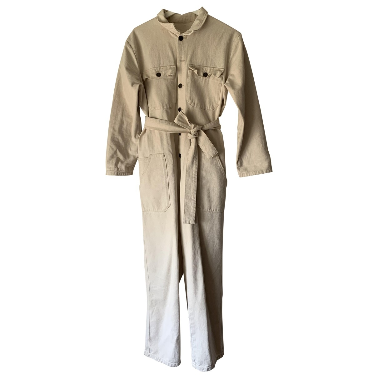 American Vintage - Combinaison   pour femme en coton - ecru