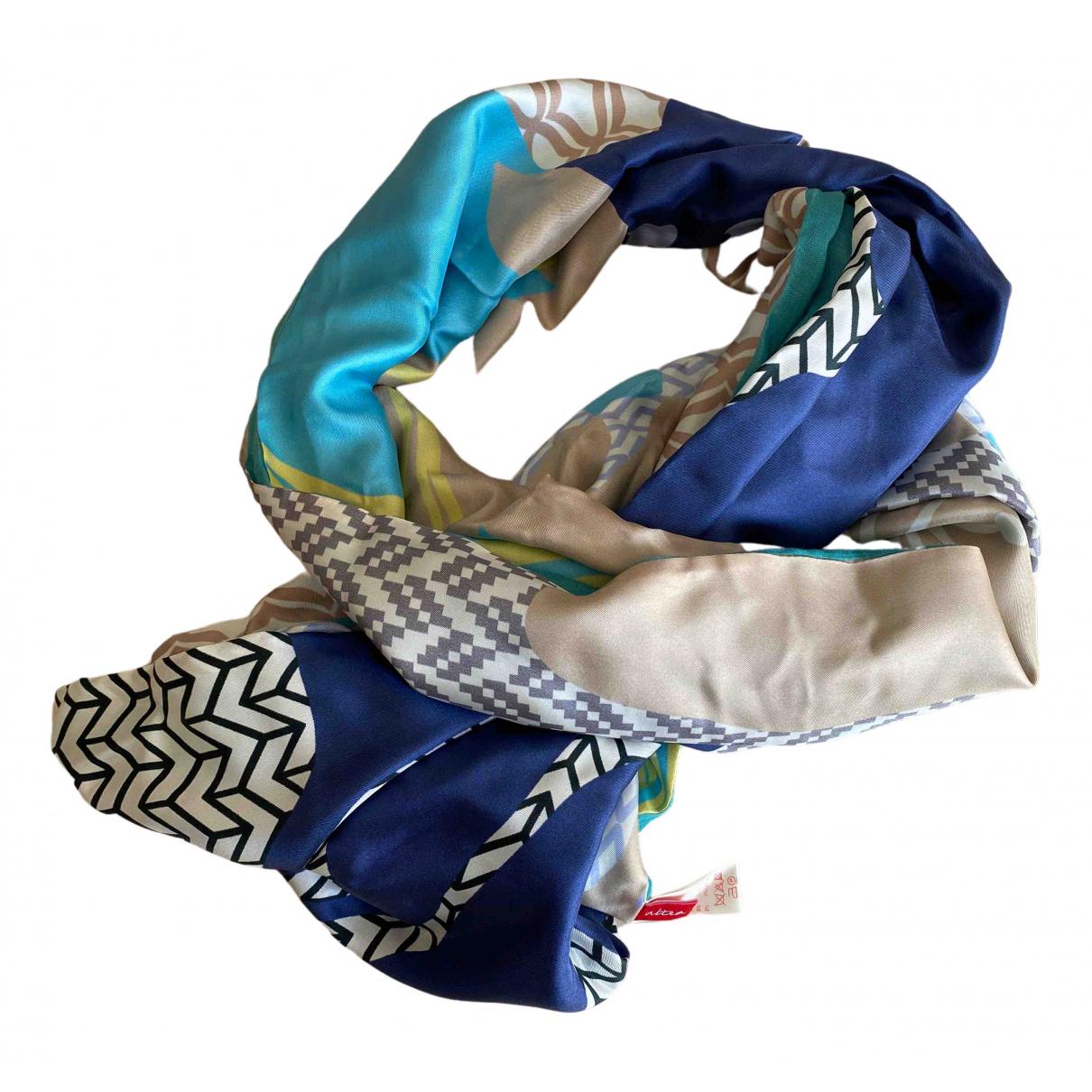 Altea - Foulard   pour femme en lin - bleu