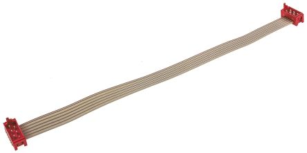 TE Connectivity Flat Ribbon Cable 150mm, IDC to IDC, 6 Ways, Cable assembly (5)