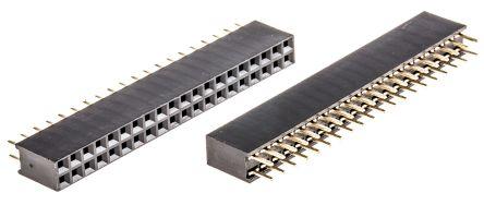 ASSMANN WSW 2.54mm Pitch 40 Way 2 Row Straight PCB Socket, Through Hole, Solder Termination (80)