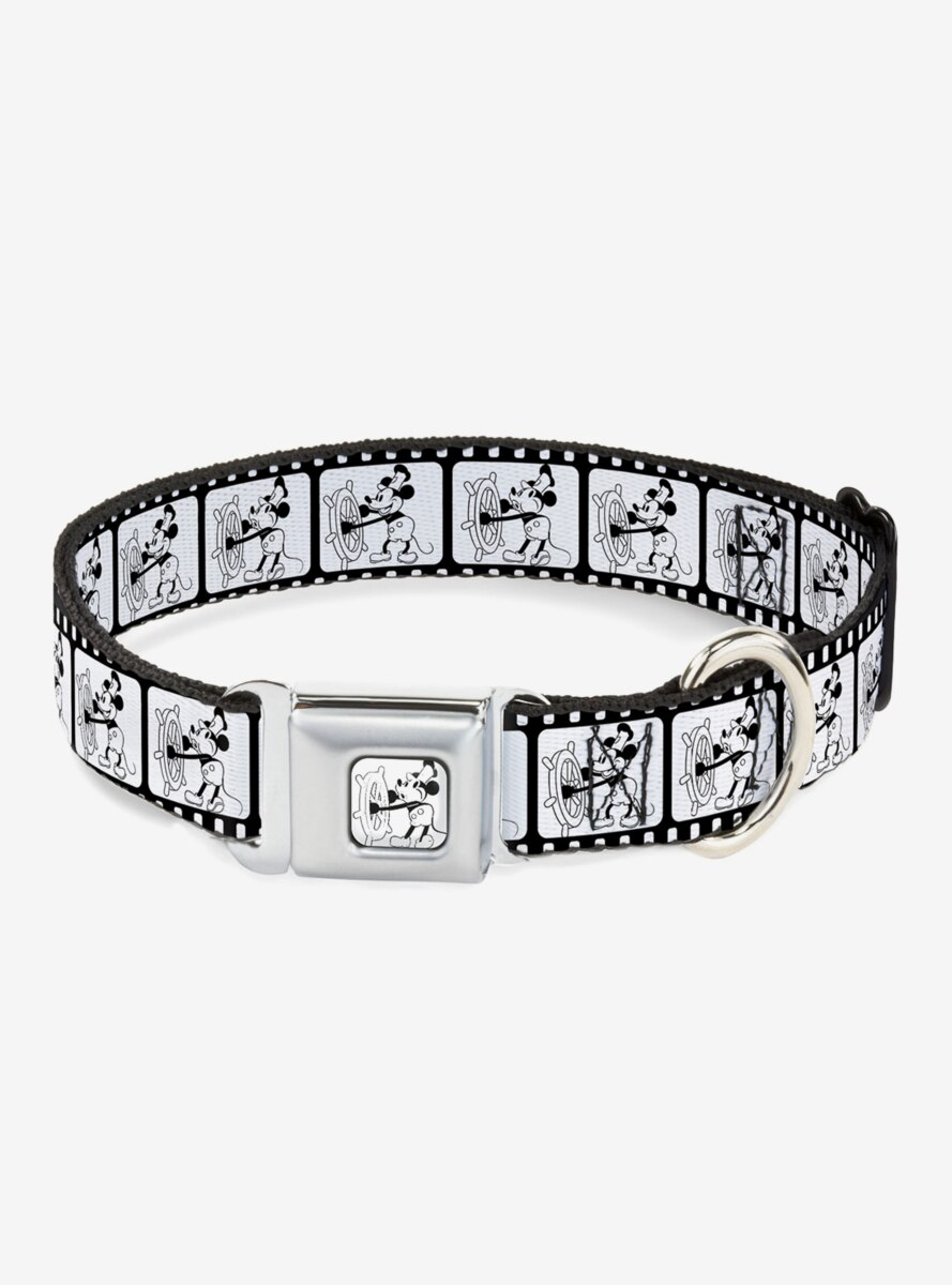 Disney Steamboat Willie Scenes Film Strip Seatbelt Buckle Dog Collar