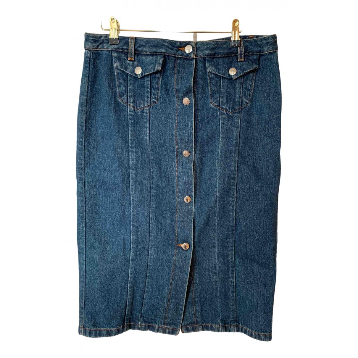 Acne Studios \N Blue Denim - Jeans skirt for Women 40 FR