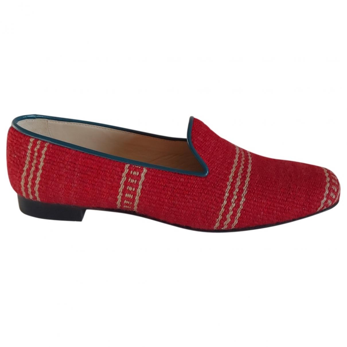 Penelope Chilvers - Escarpins   pour femme en toile - rouge