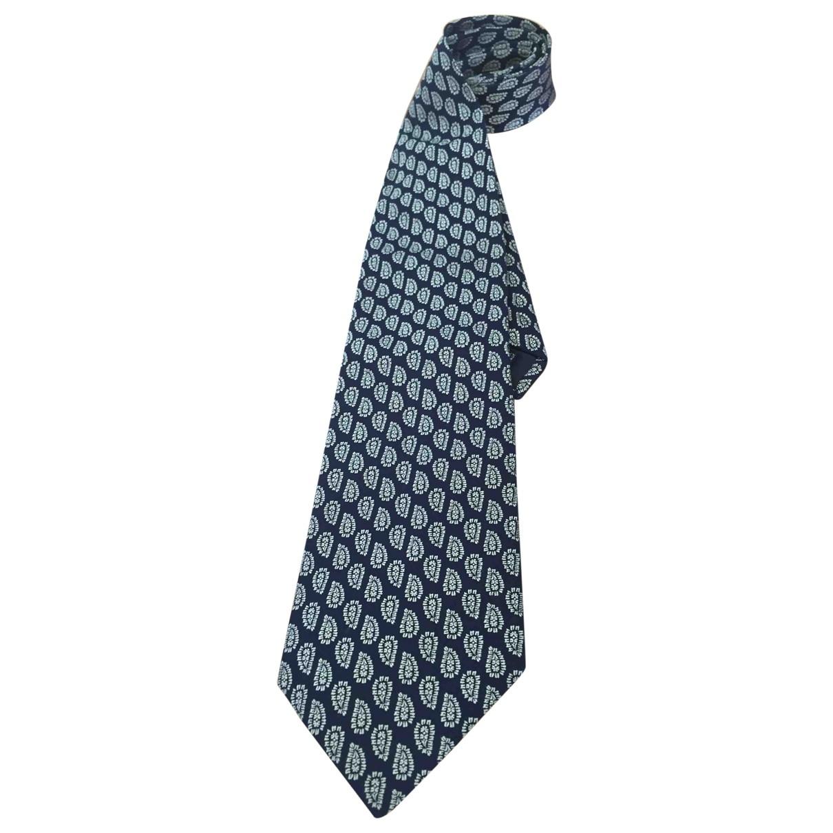 Francesco Smalto - Cravates   pour homme en soie - marine