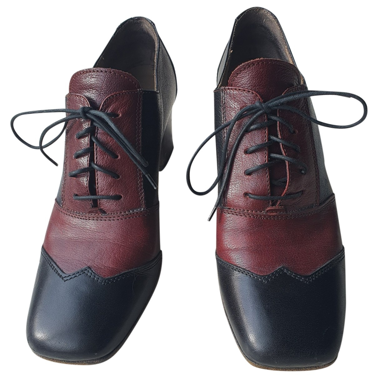 Moma \N Black Leather Lace ups for Women 40 EU