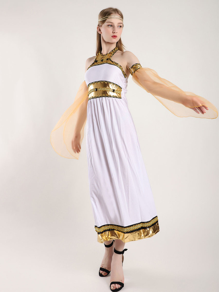 Milanoo Women Arabian Costume Gem Beaded Exotic Masquerade Ball Costume