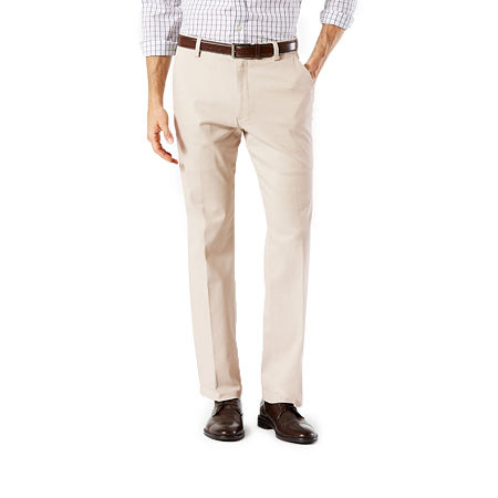 Dockers Men's Straight Fit Easy Khaki with Stretch Pants D2, 32 32, Beige