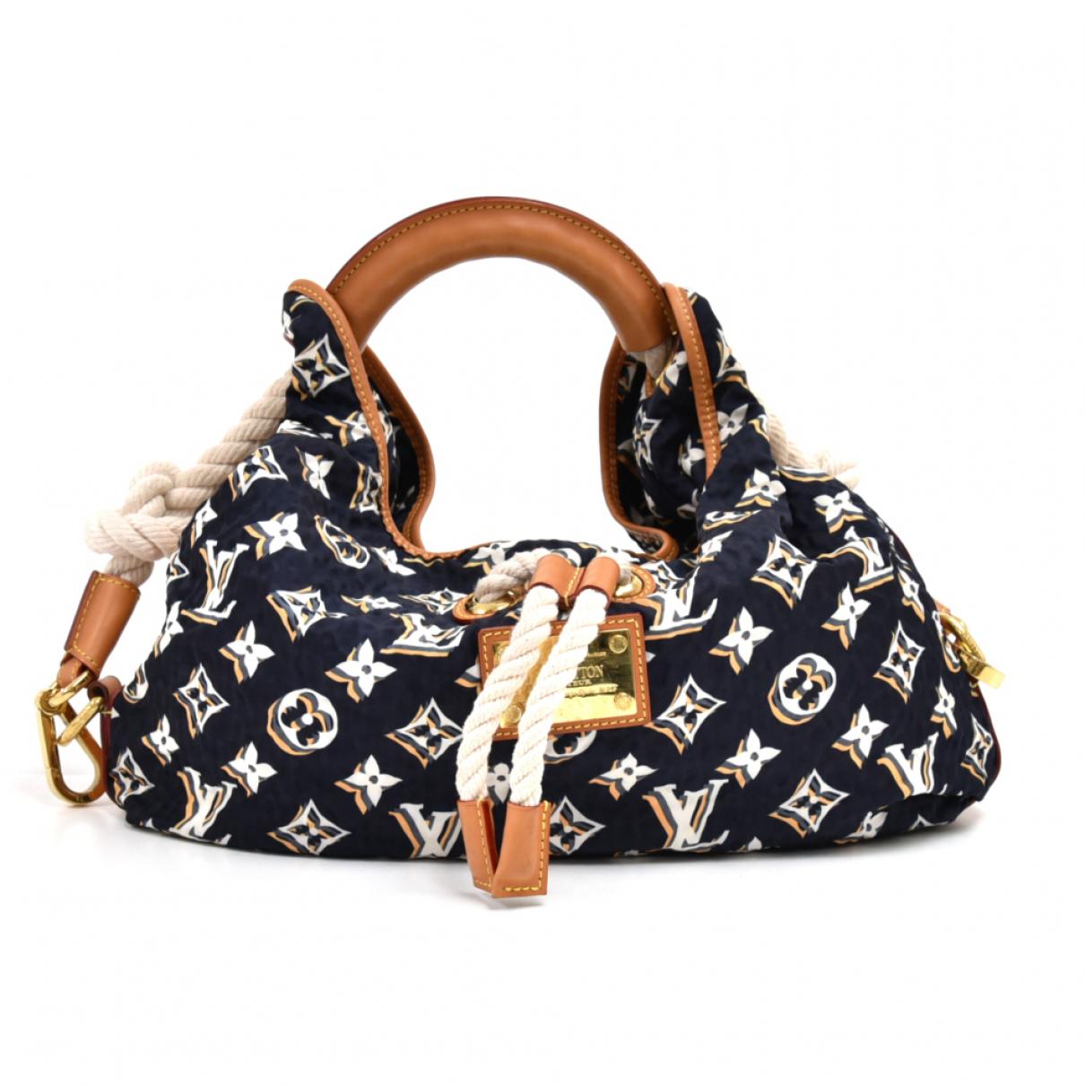Louis Vuitton \N Handtasche in  Marine Synthetik
