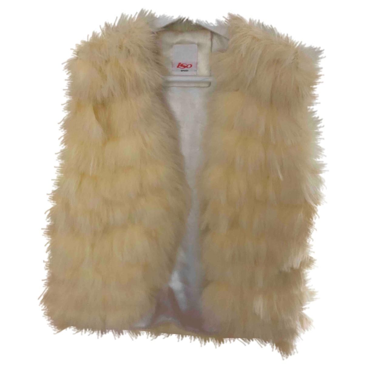 - Veste   pour femme en fourrure - beige
