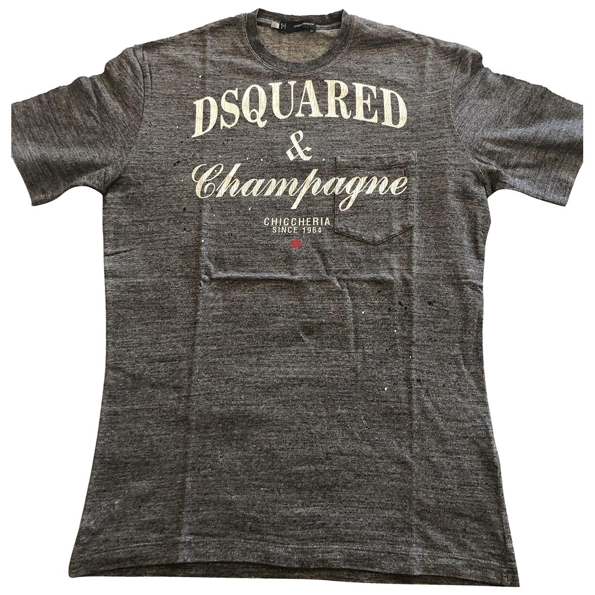Dsquared2 \N Grey Cotton T-shirts for Men L International