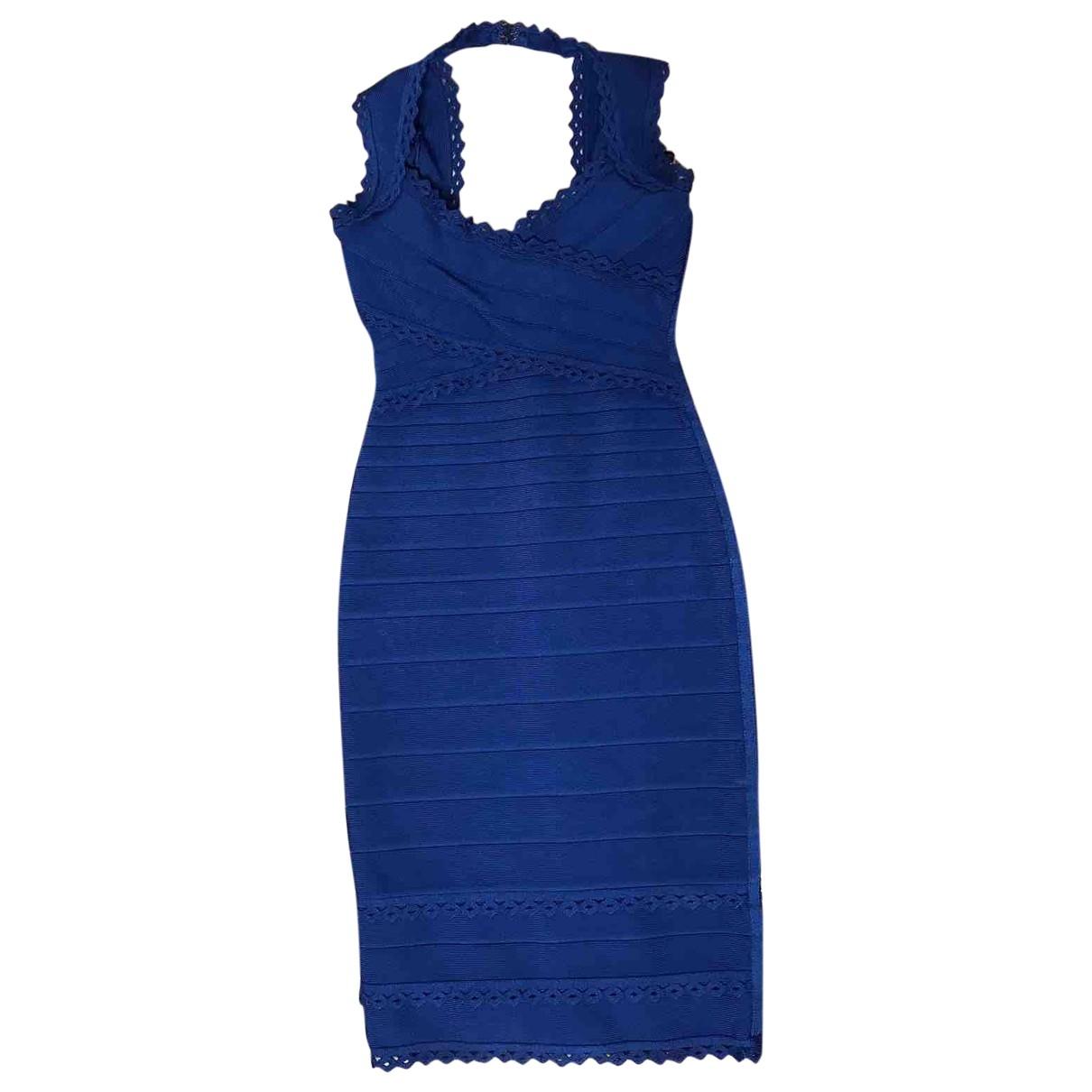 Herve Leger \N Blue Cotton dress for Women XS International