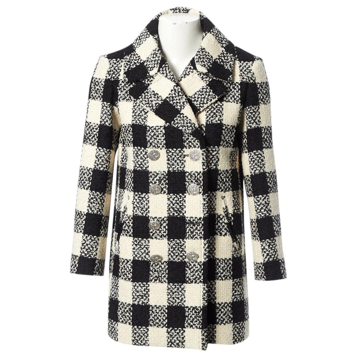 Chanel \N Maentel in  Schwarz Wolle